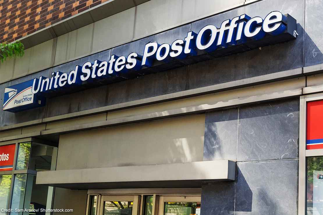 A post office location.