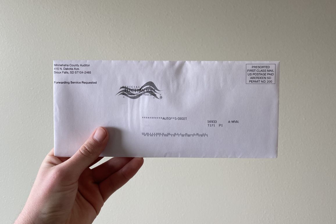 Absentee voting ballot in SD