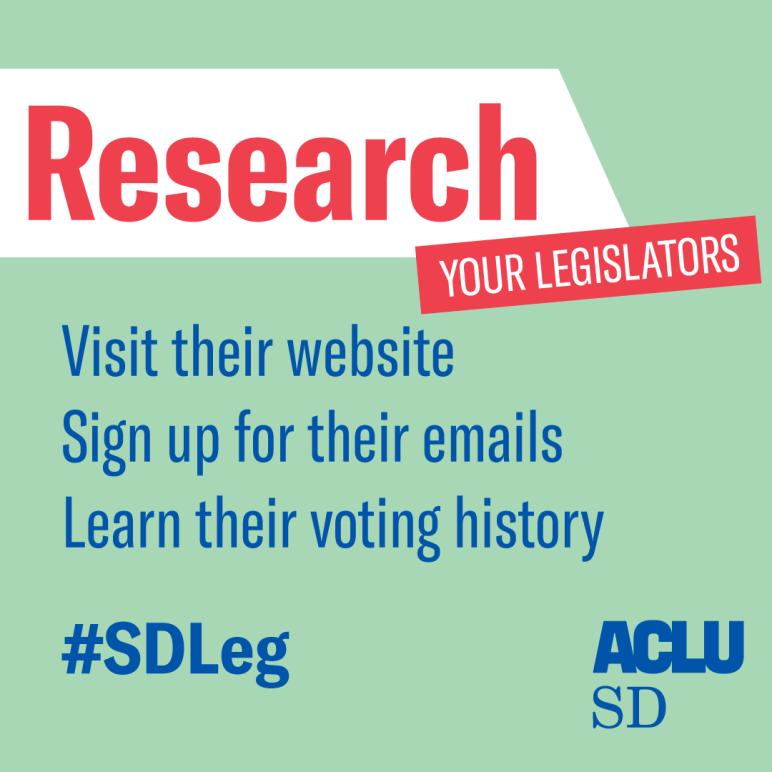 Research your legislators