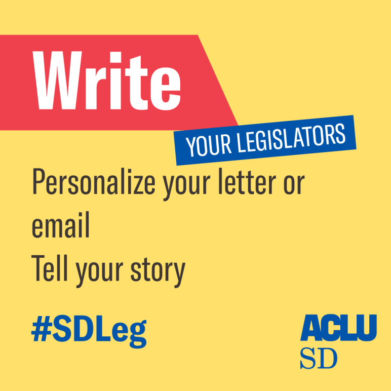 write your legislator
