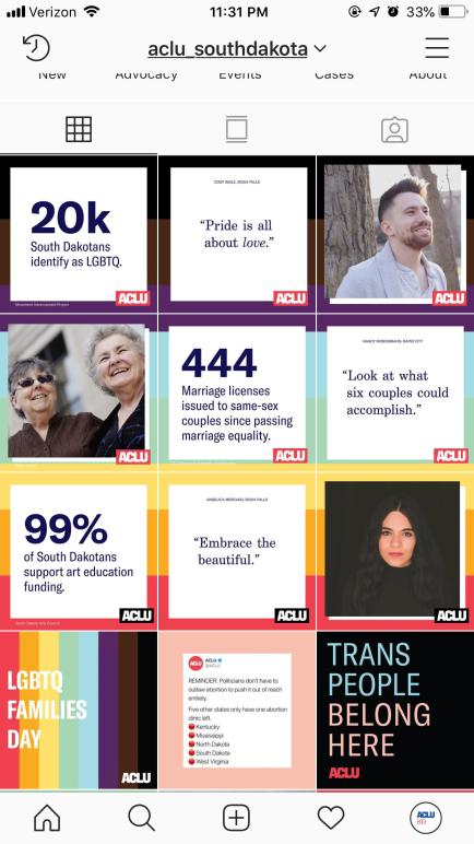 ACLU instagram grid