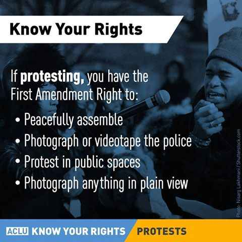 Know Your Rights when Protesting