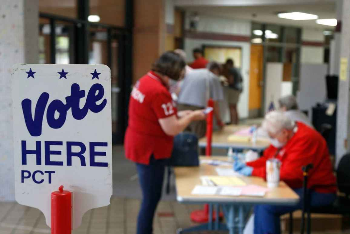 Photo of a polling place