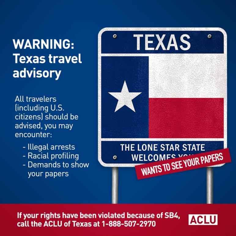 Texas Travel Advisory