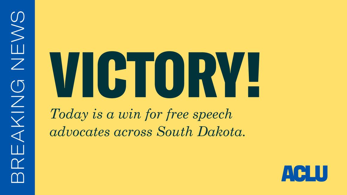 A victory for free speech