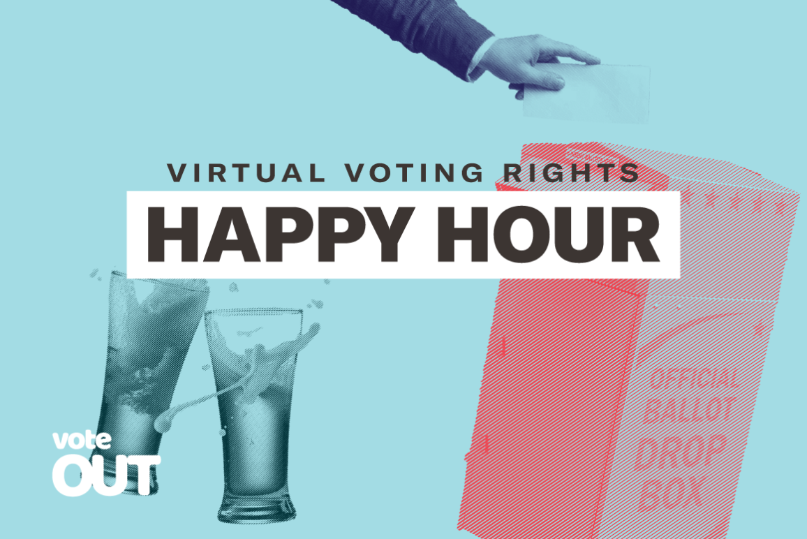 Voting rights happy hour image