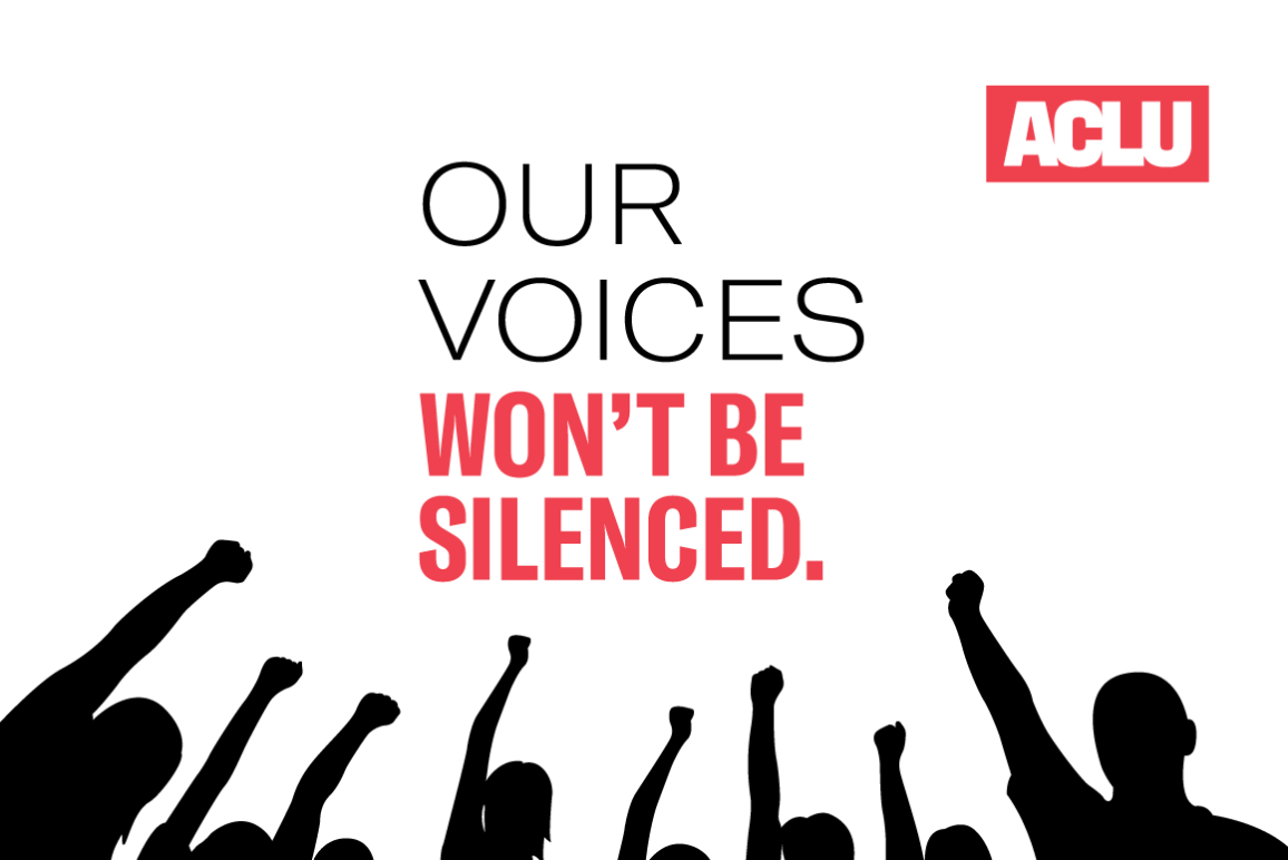 Our Voices Wont Be Silenced Graphic