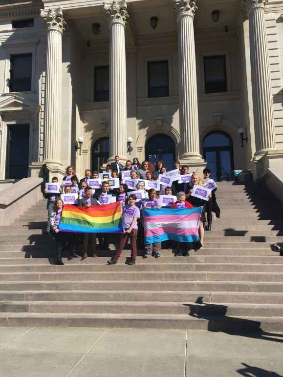 LGBT demonstration in Pierre, SD